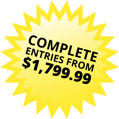 Complete entries from $1,799.99