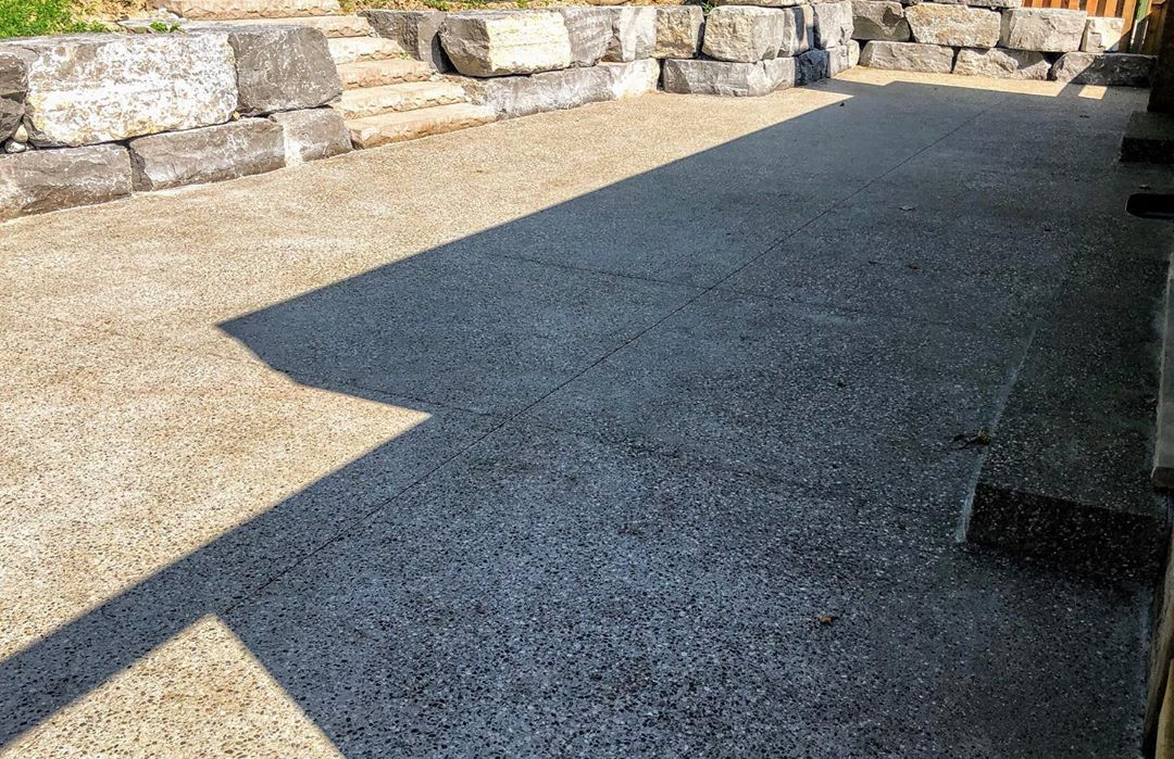 coloured concrete outdoor surface
