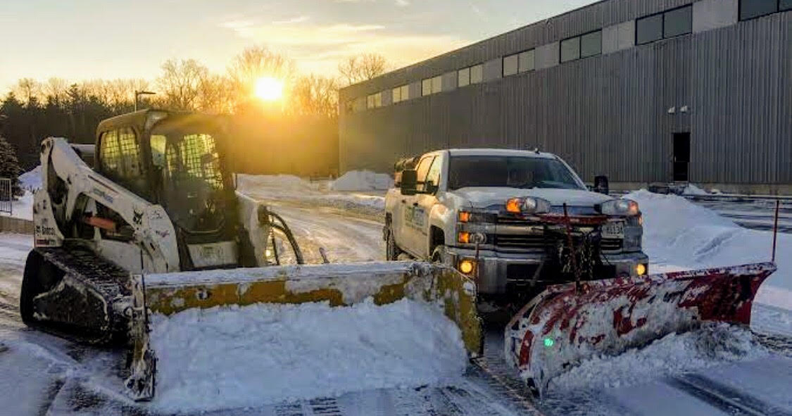 Snow removal using machine