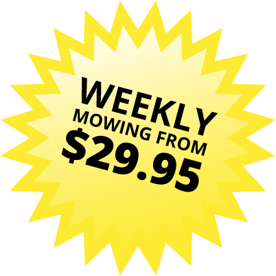 Weekly mowing from $29.95